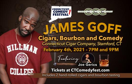 Cigars, Bourbon and Comedy with James Goff